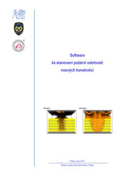 Software ke stanovení požární odolnosti nosných