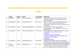 Seznam poskytovatelů služeb Správa internetového