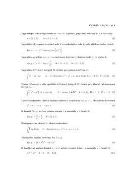 VKM/IM - 14/15 - # 0 Vypočítejte vektorový součin w = u × v. Zjistěte