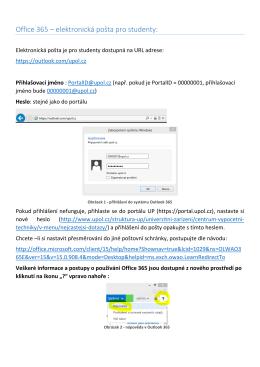 Office 365 – elektronická pošta pro studenty: