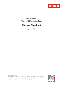 Add-on Plánovač SharePoint _manuál_20110617