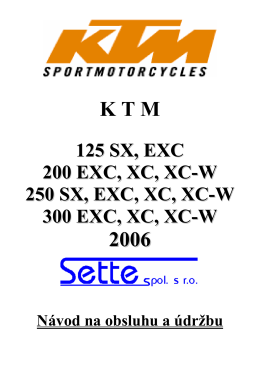 Manuál - Náhradní díly KTM