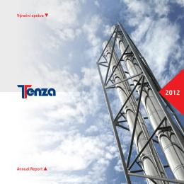 Výroční zpráva spol. TENZA za rok 2012