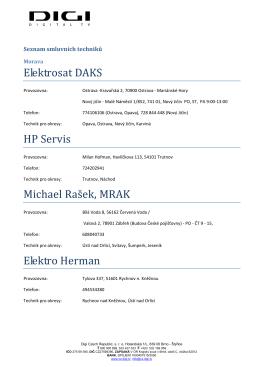 Seznam smluvnich techniku
