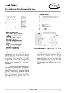 MM 5014 Jiskrově bezpečné relé (spínací