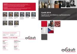 Ceník 2014 Spalinové ventilátory a příslušenství