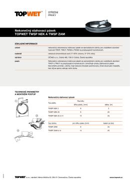 Nekonečný stahovací pásek TOPWET TWSP NEK A TWSP ZAM