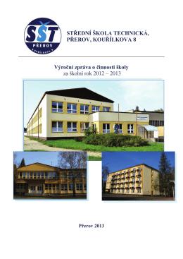 Střední škola technická, Přerov, Kouřílkova 8 Výroční zpráva o