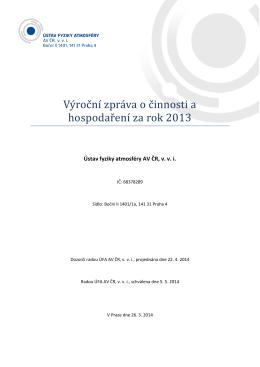 23. 5. 2014 - Rejstřík veřejných výzkumných institucí