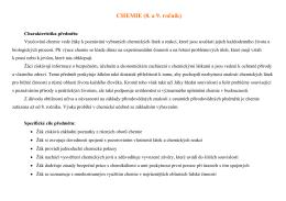 CHEMIE (8. a 9. ročník)