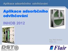 Aplikace adsorbčního odvlhčování INHOB 2012