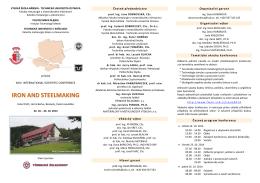 Pozvánka IaSM 2014 - Vysoká škola báňská