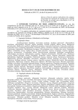 RESOLUÇÃO No 439, DE 30 DE DEZEMBRO DE 2011 Publicada