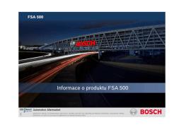 Informace o produktu FSA 500