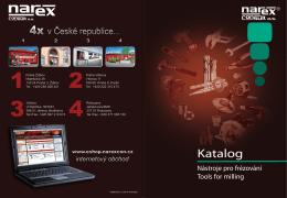 Katalog narex consult, nástroje pro frézovaní (pdf 10,5MB)