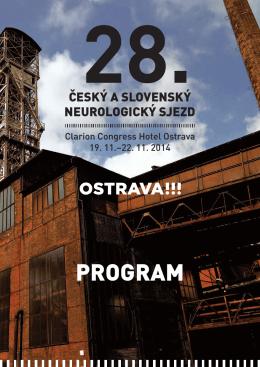 Zde - 28. český a slovenský neurologický sjezd, Ostrava, 19. až 22