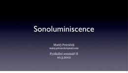 Matěj Petráček Fyzikální seminář II 10.5.2012