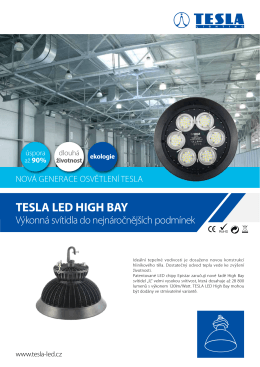 Datasheet TESLA LED High Bay