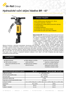 Hydraulické ruční sbíjecí kladivo BR – 67 - On