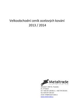 Ceník 2013 obrazový