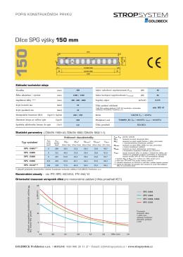 Dílce SPG výšky 150 mm