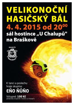 """sál hostince """"U Chalupů"""" na Braškově"""
