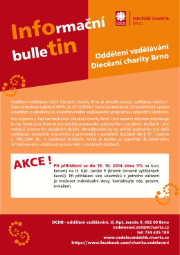 Bulletinu - Diecézní charita Brno
