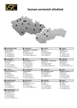 Seznam servisních středisek (158 kB