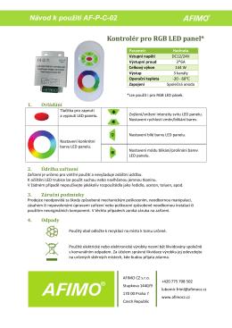 Kontrolér pro RGB LED panel 144W
