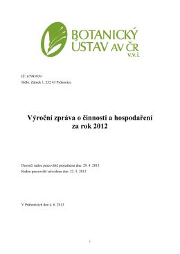2012 - Botanický ústav AV ČR