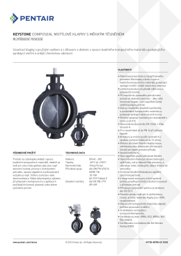 Keystone Butterfly Valves, Model CompoSeal