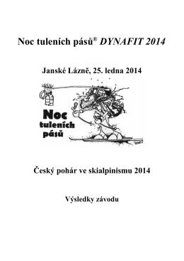 Ve formátu PDF dohromady - Noc tuleních pásů ® DYNAFIT 2014