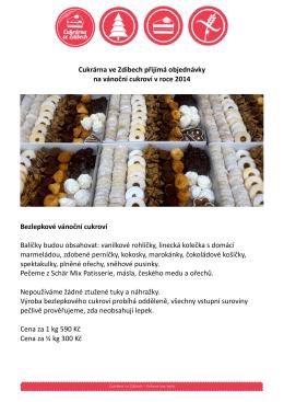 Cukrárna ve Zdibech přijímá objednávky na vánoční cukroví v roce