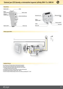Stmívač pro LED žárovky a stmívatelné úsporné zářivky DIM