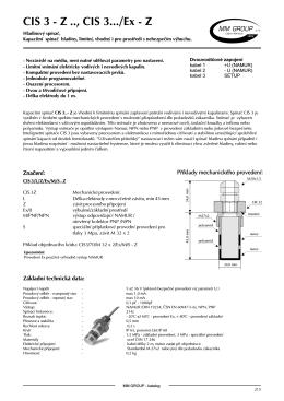 Kapacitní snímač hladiny - limitní CIS 3Z