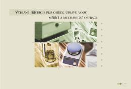 vybrané přístroje pro ohřev, úpravu vody, měřící a