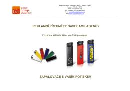 Reklamní zapalovače - zapalovače s potiskem