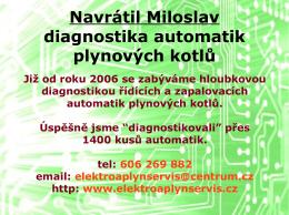 Navrátil Miloslav diagnostika automatik plynových kotlů