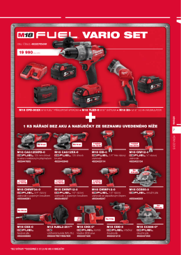 VARIO SET - Milwaukee eshop