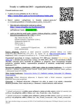 česky - Katedra technické a informační výchovy