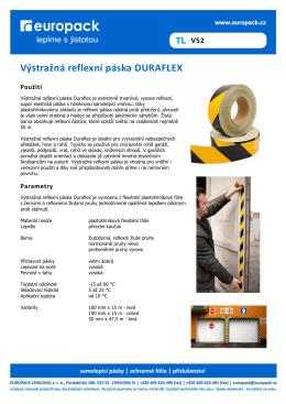 Výstražná reflexní páska DURAFLEX