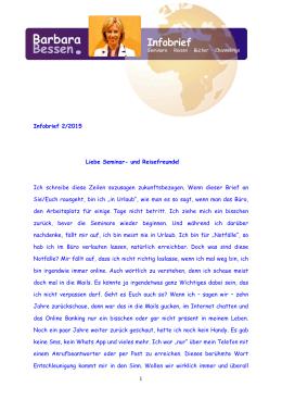 Infobrief 2.Februar 2015