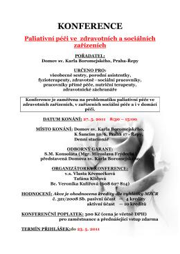 konference - Nemocnice Milosrdných sester sv. Karla Boromejského