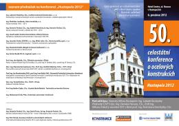 6. prosince 2012 celostátní konference o ocelových konstrukcích