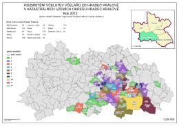 mapa rozšíření včelstev