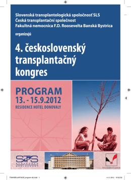 4. československý transplantačný kongres - Farmi