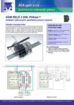 GSM RELÉ 2 DIN, Příklad 1