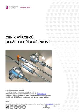 Aktuální ceník SENSIT 2011 /cz