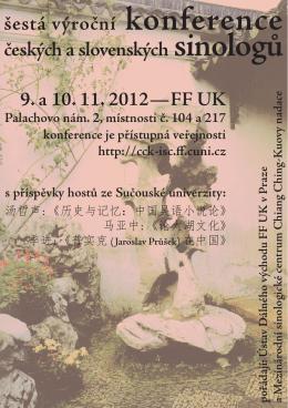 šestá výroční konference českých a slovenských sinologů