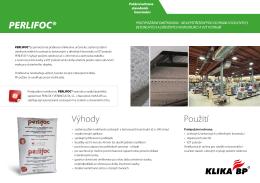 Požární ochrana stavebních kontrukcí PERLIFOC - KLIKA
